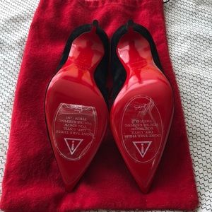 "Christian Louboutin Shoes - Louboutin ""So Kate"" velvet heels size 37/US 7"